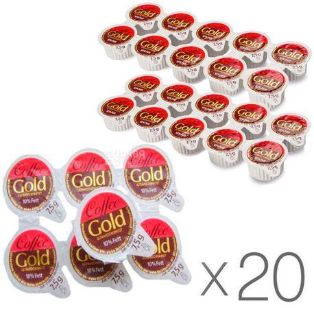 Zott Coffee Gold, 10 шт. x 7,5 г, Крем-сливки порционные, упаковка 20 шт.