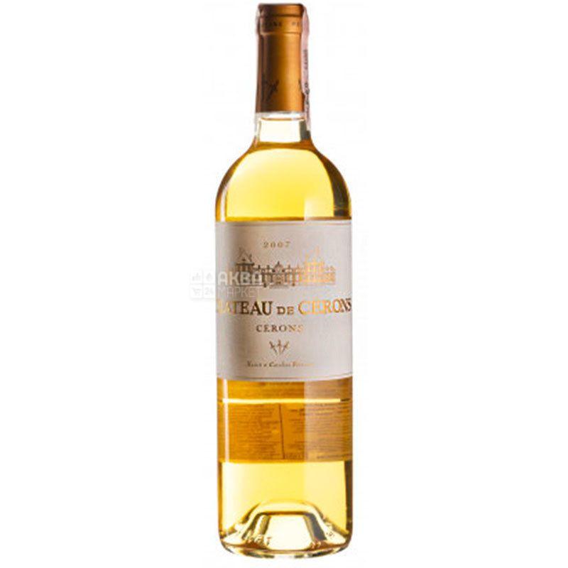 Chateau de Cerons Blanc, Вино белое сладкое, 0,75 л