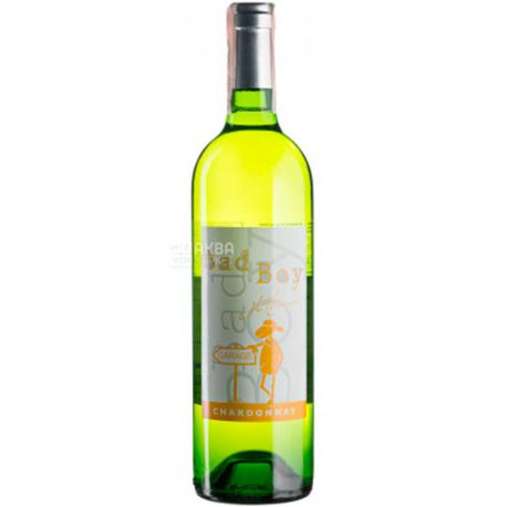 Thunevin Bad Boy Chardonnay 2015, Вино біле сухе, 0,75 л