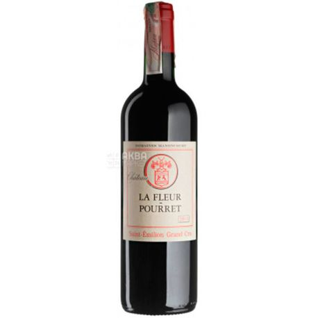 Chateau La Fleur Pourret Saint-Emilion Grand Cru, Вино червоне сухе, 0,75 л
