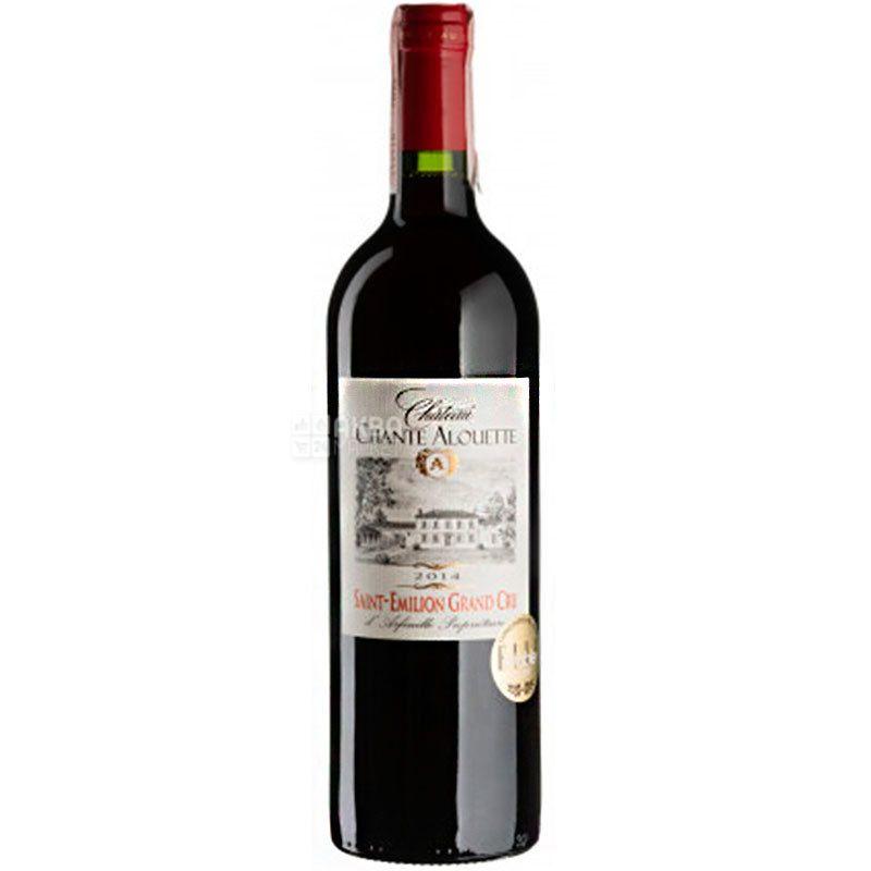 Chateau Chante Alouette 2014, Вино красное сухое, 0,75 л