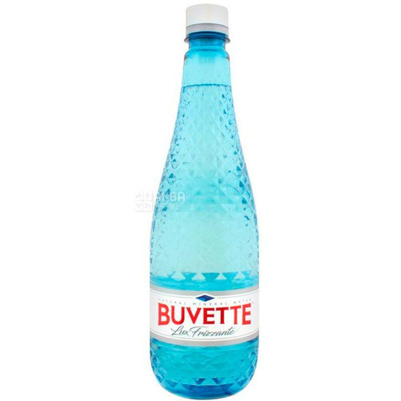 Buvette, Lux frizzante, 0,75 л, Бювет Люкс, Вода минеральная, слабогазированная, стекло