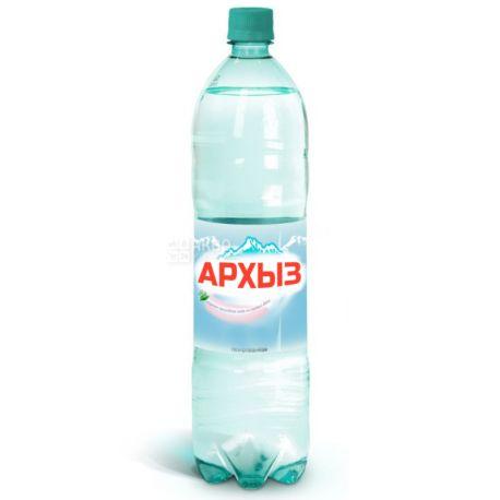 Архиз, 1,5 л, Вода мінеральна газована Кавказька, ПЕТ
