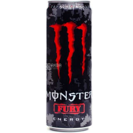Monster Fury Energy, 0,355 л, Напиток энергетический безалкогольный, Монстер Фьюри Энерджи