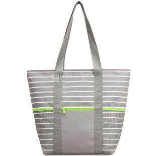 Time Eco, Вертикальная сумка-холодильник, салатово-серая, 20 л