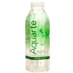Aquarte Focus, 0,5 л, Акварте Фокус, Вода негазированная с экстрактом женьшеня и вкусом яблока, ПЭТ