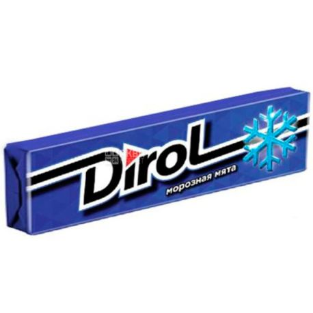 Dirol, 14 г, жевательная резинка,  Fresh, Морозная мята