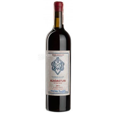 Aladasturi, Vartsikhe Marani, Вино червоне сухе, 0,75 л