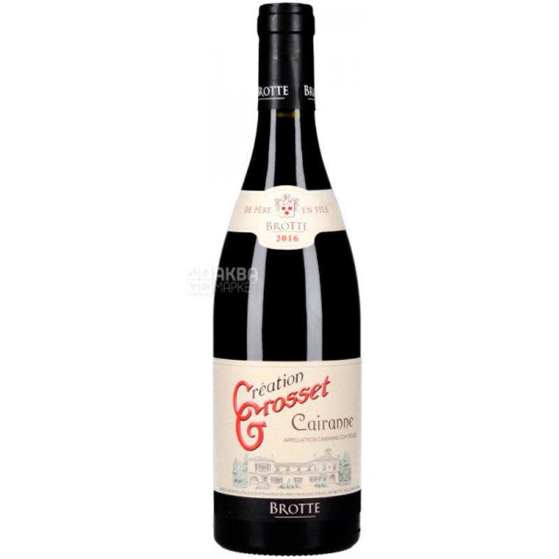 Brotte S.A. Domaine Grosset Cairanne, Вино червоне сухе, 0,75 л