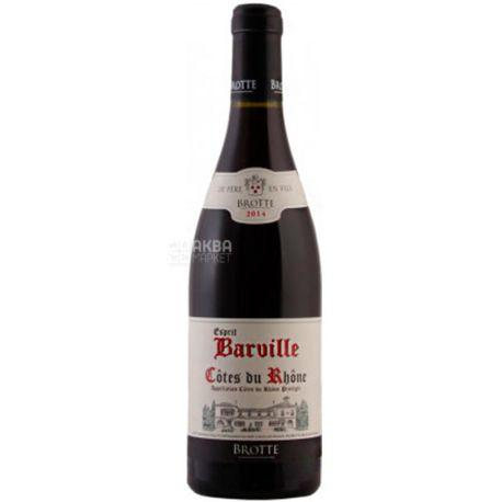 Brotte S.A. Cotes du Rhone Esprit Barville, Вино червоне сухе, 0,75 л