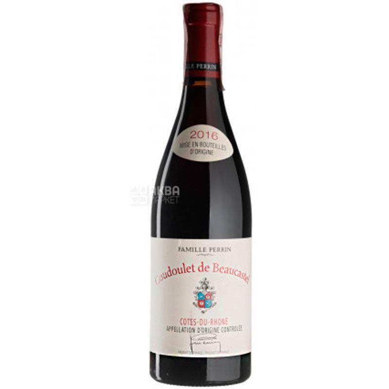 Chateau de Beaucastel, Coudoulet de Beaucastel Rouge 2016, Вино красное сухое, 0,75 л