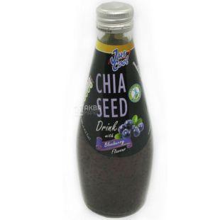 Jus Cool, Chia Seed, 0,3 л, Напиток соковый черника, стекло