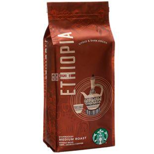 Starbucks Ethiopia, 250 г, Кофе Старбакс Эфиопия, средней обжарки, в зернах