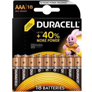 Duracell, AAA, 18 pcs., Batteries, LR03
