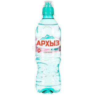 Arkhyz, 0.5 L, Non-carbonated mineral water, sports, PET