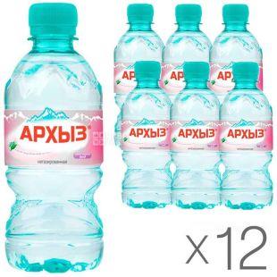 Архыз, 0,33 л, Упаковка 12 шт., Вода минеральная негазированная, ПЭТ
