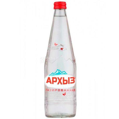Архыз, 0,5 л, Вода в стекле минеральная газированная