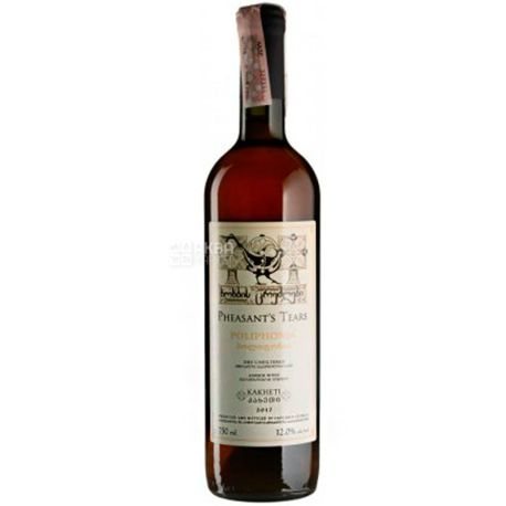 Poliphonia, Pheasant's Tears, Вино красное сухое, 0,75 л