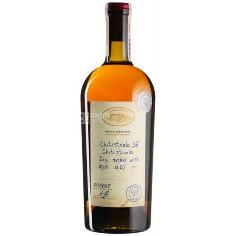 Chitistvala Specially Bottled Tchotiashvili, Вино белое сухое, 0,75 л