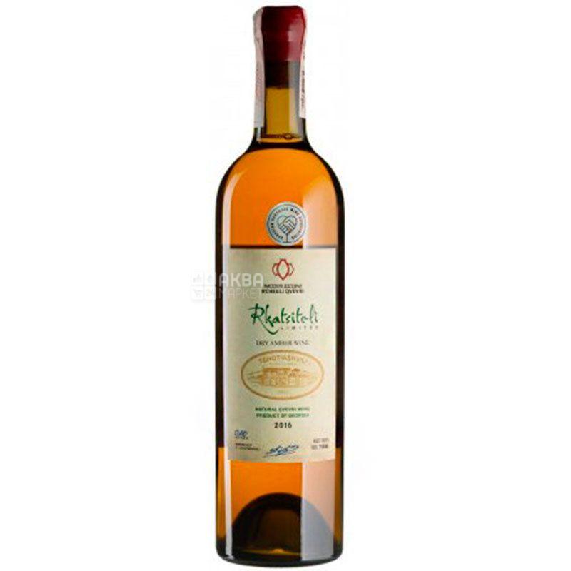 Rkatsiteli Rcheuli Qvevri Tchotiashvili, Вино белое сухое, 0,75 л