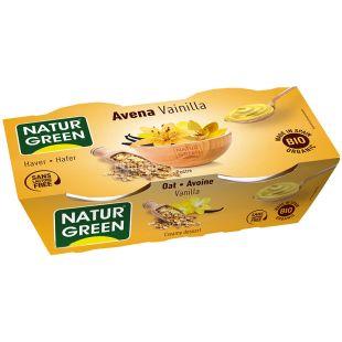 NaturGreen, 2 шт. по 125 г, НатурГрин, Десерт органический овсяный с ванилью