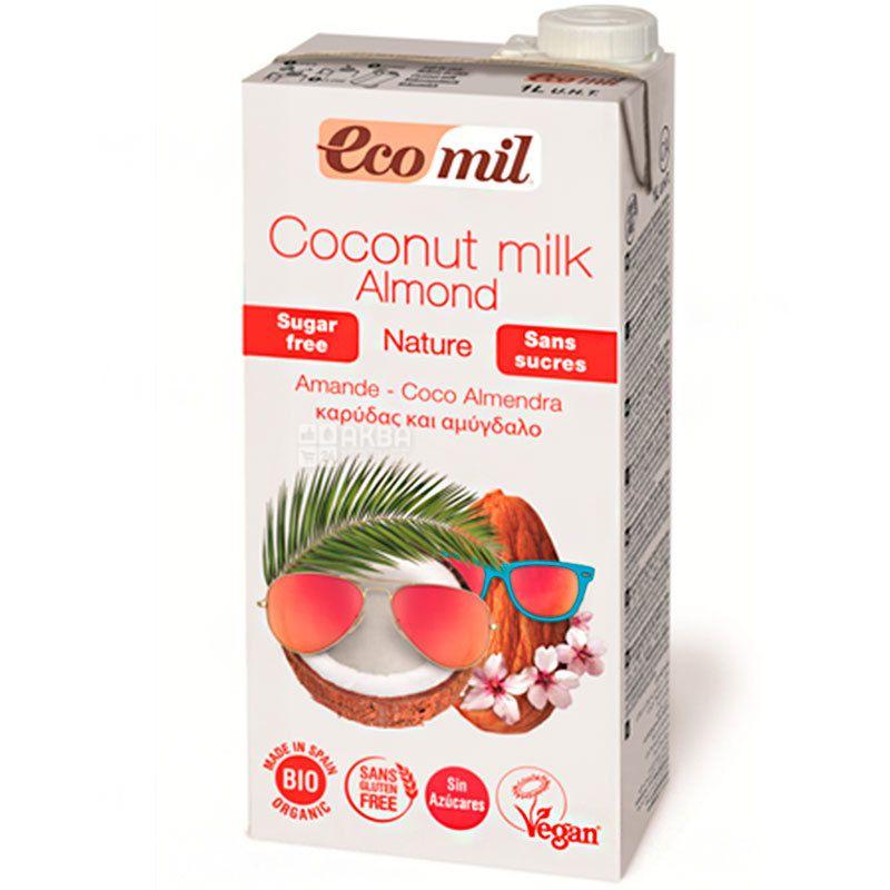 Ecomil, Coconut Almond, 1 л, Экомил, Растительный напиток, Миндаль-кокос, без сахара