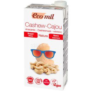 Ecomil, Cashew, 1 л, Экомил, Растительное молоко с кешью, без сахара