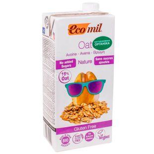 Ecomil, Oat, 1 л, Екоміл, Рослинний напій з вівса, без цукру