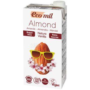 Ecomil, Nature Vanilla, 1 л, Екоміл, Рослинний напій, Мигдаль з ваніллю, без цукру