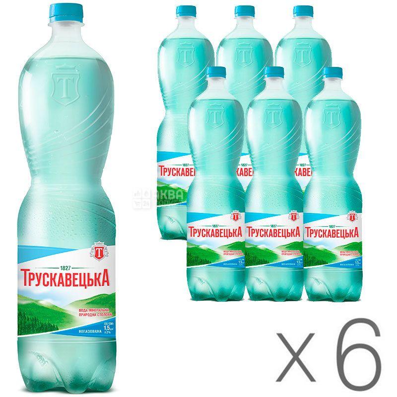 Трускавецкая Аква-Эко, 1,5 л, Упаковка 6 шт., Вода минеральная негазированная, ПЭТ
