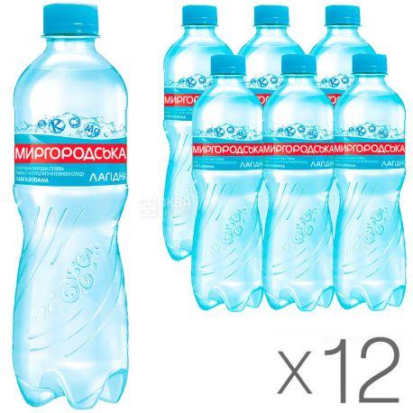 Миргородська Лагідна, 0,5 л, Упаковка 12 шт., Вода мінеральна слабогазована, ПЕТ
