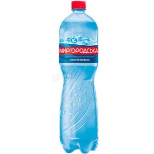 Mirgorodskaya, 1.5 l, Highly carbonated water, Mineral, PET, PAT