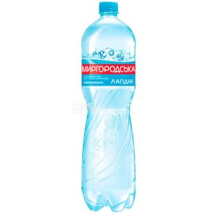 Mirgorodskaya, 1,5 l, Lightly carbonated water, Mineral, Lagidna, PET, PAT