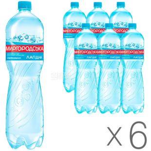 Mirgorodskaya, 6 pcs. 1.5 l each, Low Carbonated Water, Mineral, Lagidna, PET, PAT