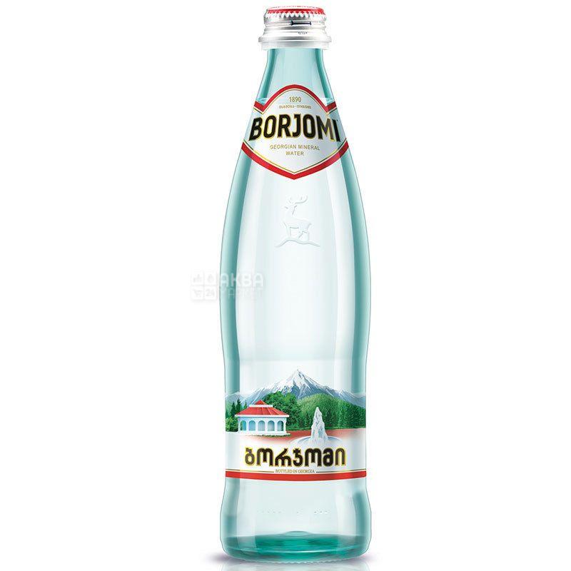 Borjomi, 0,5 л, Боржоми, Вода минеральная сильногазированная, стекло