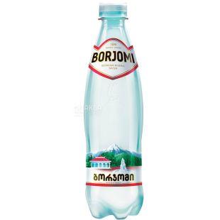 Borjomi, 0,5 л, Боржоми, Вода минеральная сильногазированная, ПЭТ