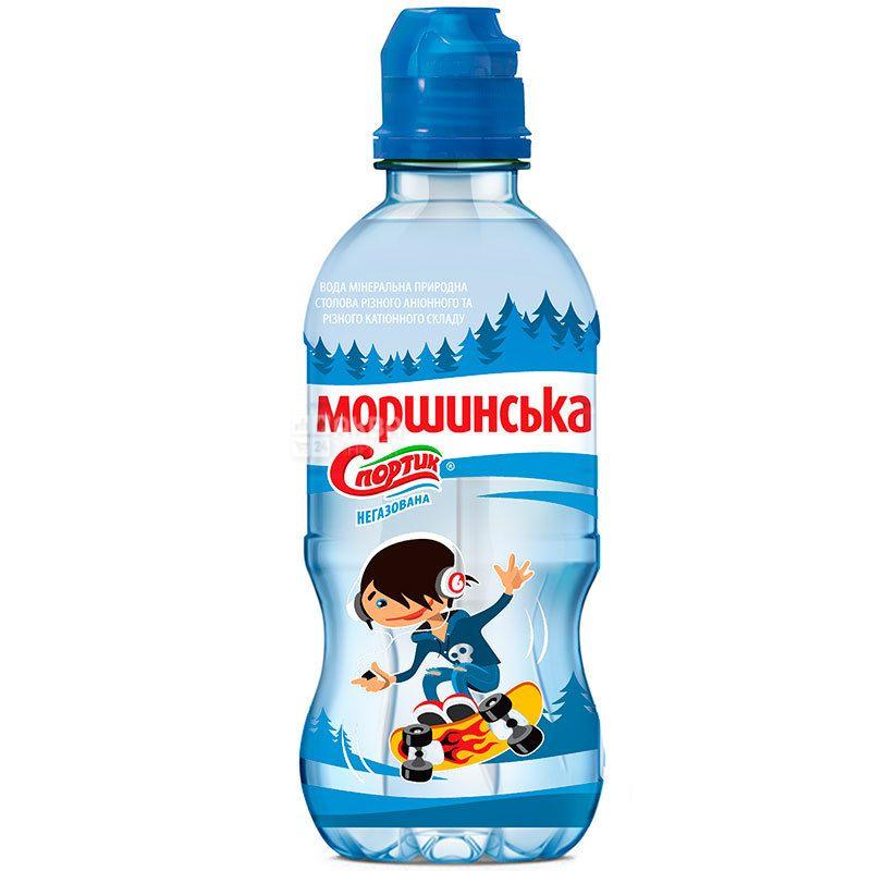Моршинская Спортик, 0,33 л, Вода негазированная, с дозатором, ПЭТ