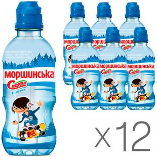 Morshynska, Packing 12 pcs. on 0,33 l, Water not aerated for children Sportik, PET, PAT