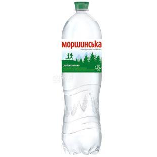 Моршинська, 1,5 л, Вода мінеральна слабогазована, ПЕТ
