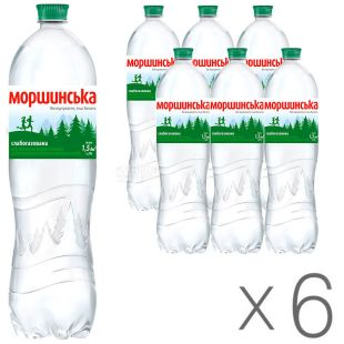 Моршинская, 1,5 л, Упаковка 6 шт., Вода минеральная слабогазированная, ПЭТ