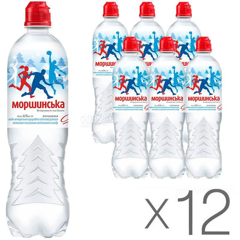 Моршинская Спорт, 0,75 л, Упаковка 12 шт., Вода минеральная негазированная, ПЭТ