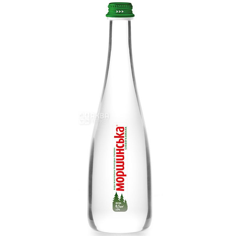 Моршинська Premium, 0,5 л, Вода мінеральна слабогазована, скло