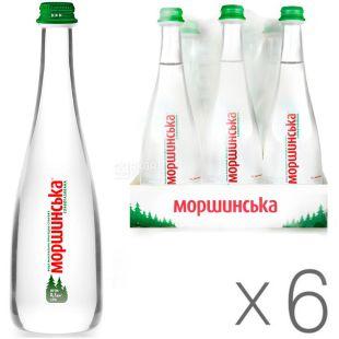 Morshynska, Packing 6 pcs. 0.5 l each, lightly carbonated water, Premium, glass, glass