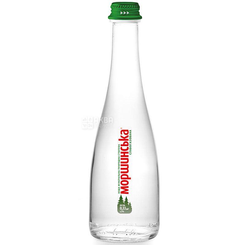 Моршинская Premium, 0,33 л, Вода минеральная слабогазированная, стекло