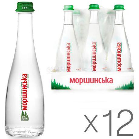 Моршинская Premium, 0,33 л, Упаковка 12 шт., Вода минеральная слабогазированная, стекло