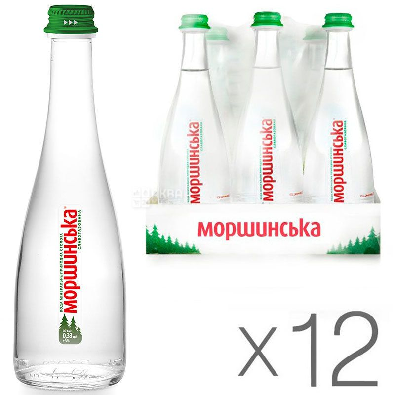 Morshinskaya Premium Water lightly OPT, Package 12 bottles. x 0,33l, glass, glass