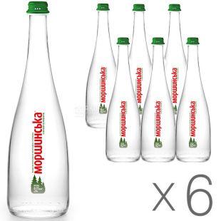 Моршинська Premium, 0,75 л, стекло, Упаковка 6 шт., Вода мінеральна слабогазована, скло