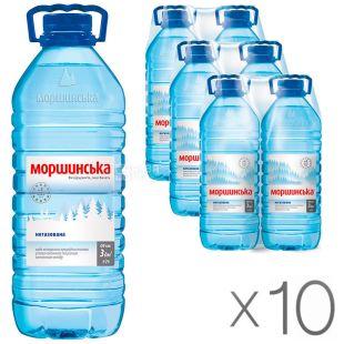 Моршинская, 3 л, Упаковка 10 шт., Вода минеральная негазированная, ПЭТ