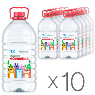 Non-carbonated Morshinka, Mineral water, 6 L, Pack of 10 pcs., PET, PAT