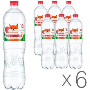 Non-carbonated Morshinka, Mineral water, 1.5 L, Packaging 6 pcs., PET, PAT